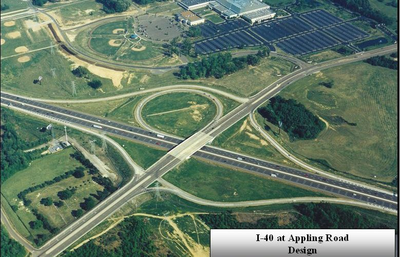Interstate 40, from I-240 to US Hwy  64 – W  H  Porter